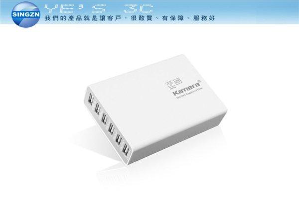 「YEs 3C」Kamera 佳美能 SP-6U USB 6port 電源供應器 白 免運
