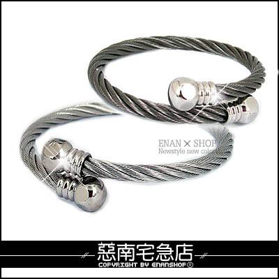 惡南宅急店【0159B】西德鋼手環『圓頭 彈性鋼絲手環』情侶對鍊。單條區