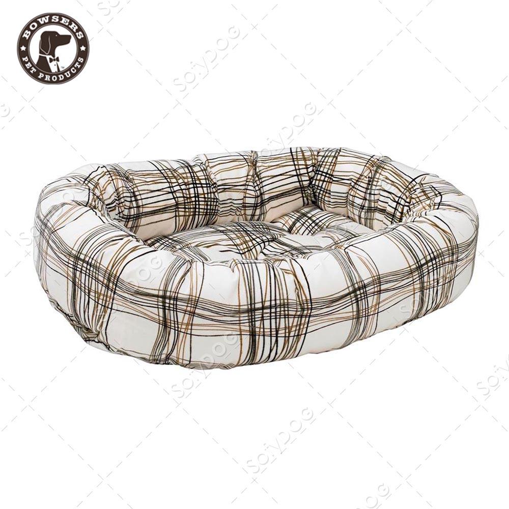 BOWSERS甜甜圈極適寵物床-塗鴉格紋-XS