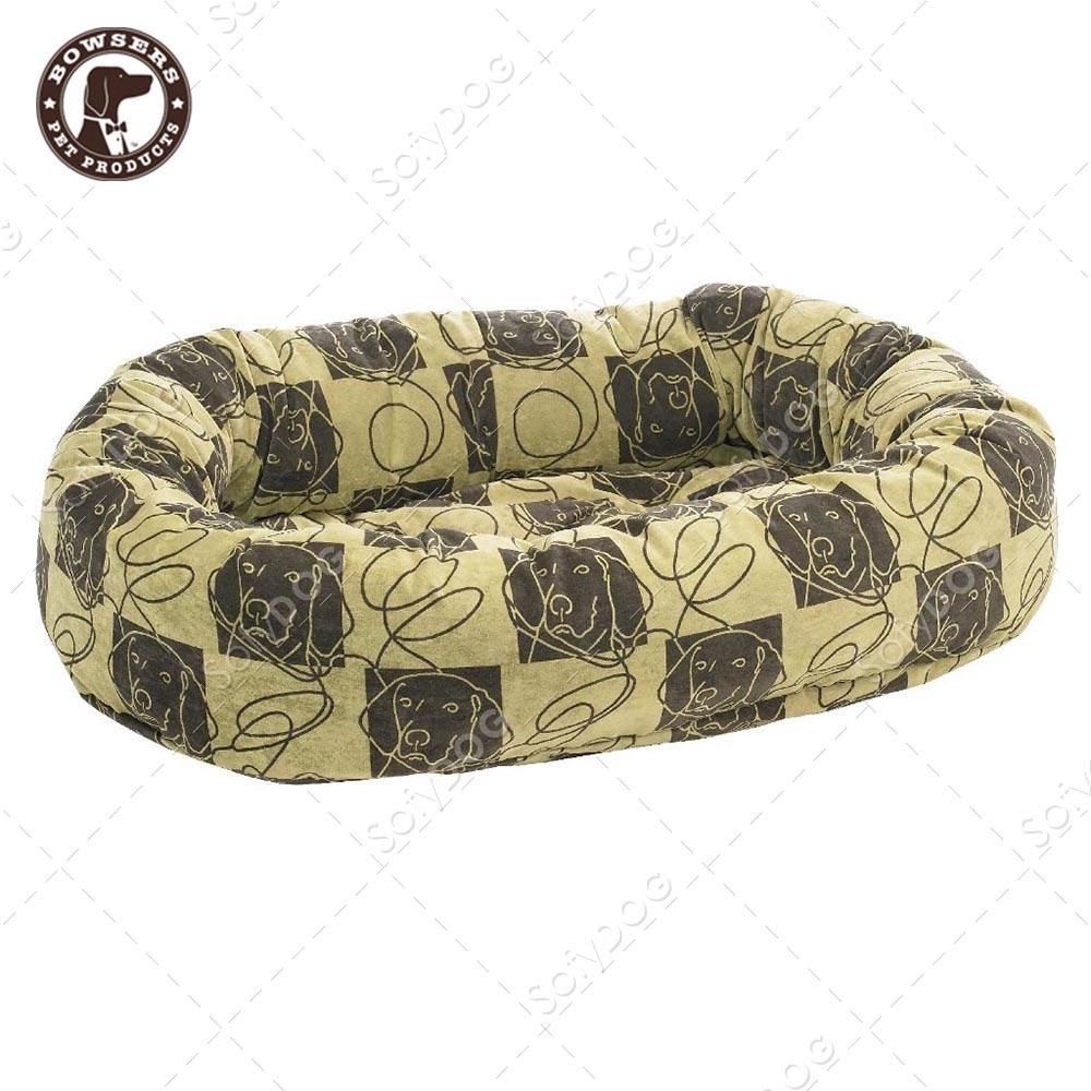 BOWSERS甜甜圈極適寵物床-塗鴉狗格紋-XS