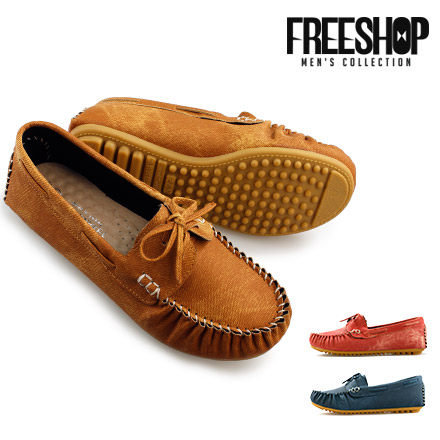豆豆鞋 Free Shop【QSH0540】日韓風格蝴蝶結造型質感懶人鞋低筒休閒鞋豆豆鞋 三色 (FA92) MIT台灣製