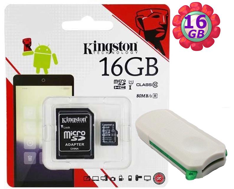 附V39 microSD 讀卡機 KINGSTON 16GB 16G 金士頓【80MB/s】microSDHC microSD SDHC micro SD UHS-I UHS U1 TF C10 Cl..