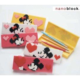 日潮夯店 日本正版 Disney 迪士尼 米奇 米妮 nano block 小樂高 LEGO 筆盒 鉛筆盒 筆袋 4色