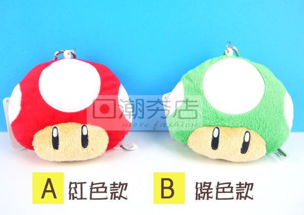 [日潮夯店] 日本正版進口 超可愛超級瑪莉遊戲 香菇 伸縮 票夾 吊飾 玩偶 公仔 娃娃