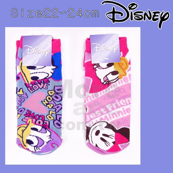 [日潮夯店] 日本正版進口 迪士尼 DISNEY 唐老鴨 黛西 米妮 短襪 襪子 22~24cm
