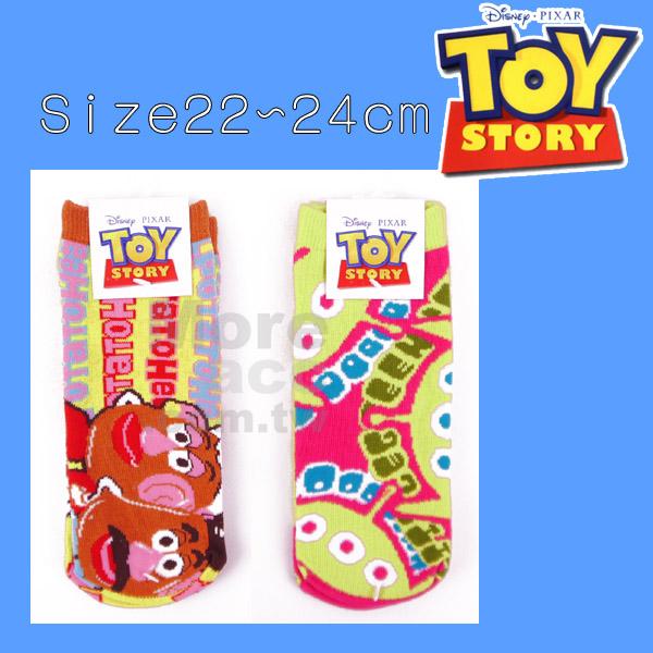 [日潮夯店] 日本正版進口 迪士尼 DISNEY 玩具總動員 三眼怪 蛋頭夫妻 馬鈴薯夫婦 短襪 襪子 22~24cm