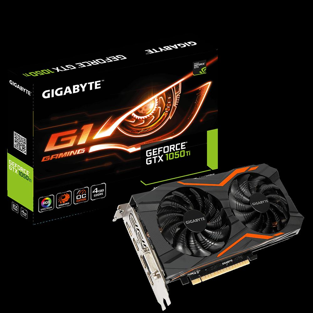技嘉 G1 Gaming GTX 1050Ti 4G 顯示卡 (GV-N105TG1 GAMING-4GD)