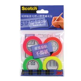 3M Scotch可再貼螢光補充膠帶1入裝