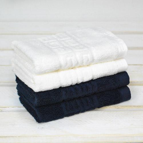 【GIVENCHY紀凡希】4G凹凸圖紋素色方巾 藍/白 2色可選 100%純棉毛巾 授權日本UCHINO製造