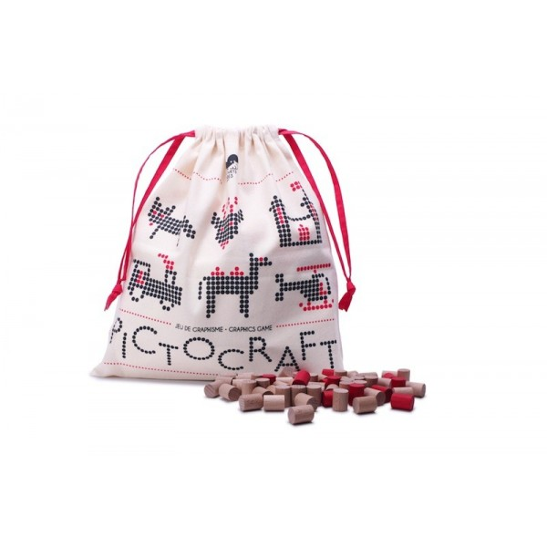 法國Les Jouets Libres Pictocraft 百變造型排列組合遊戲