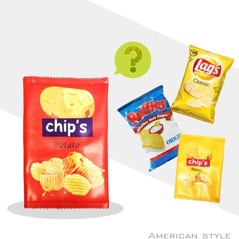 G.W.可愛洋芋片?零食 手機ipad收納包?手拿包 餅乾化妝包?同款costco薯片包?黃大薯紅中薯 啾GUESSWHAT