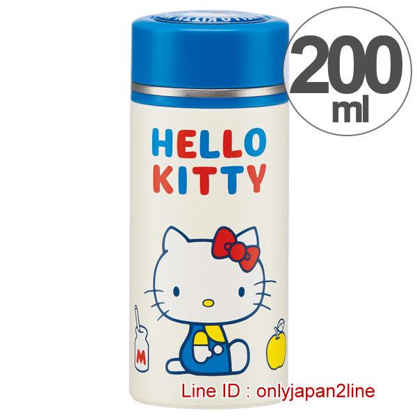 【真愛日本】16121000002超輕量不銹鋼瓶200ML-KT70年代 三麗鷗 Hello Kitty 凱蒂貓 不鏽鋼 保溫瓶  限量