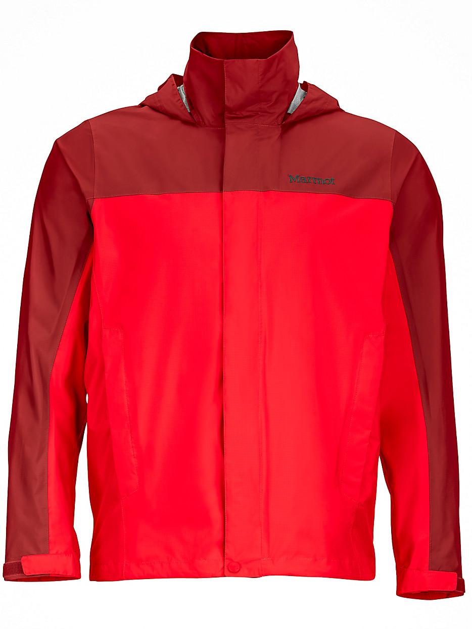 ├登山樂┤美國Marmot土撥鼠 PreCip 男款防水透氣外套/風雨衣 紅/深紅 #41200-6369