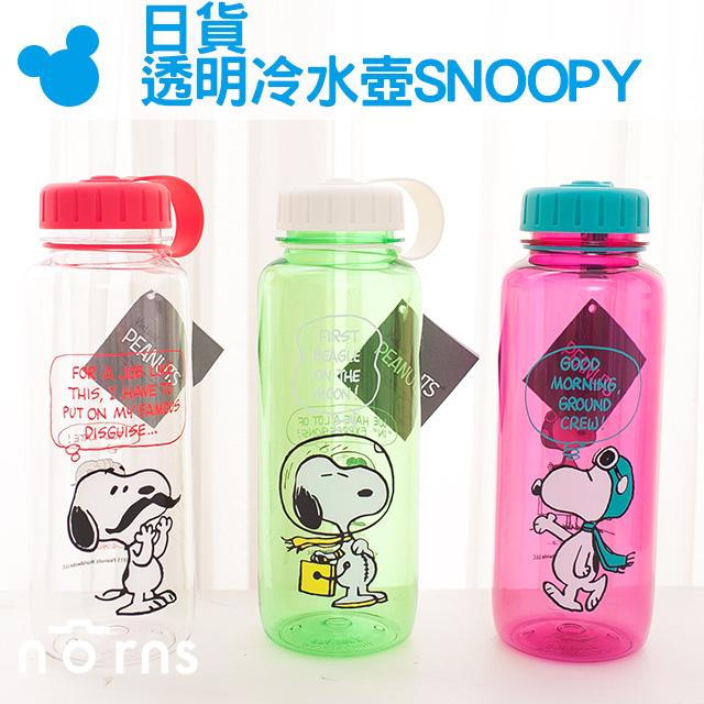 NORNS【日貨透明冷水壺SNOOPY 】史努比卡通水瓶 隨行杯 杯子 750ml BPA FREE