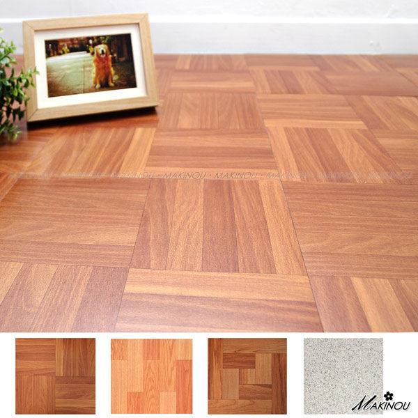 地墊|日本和風 深木紋 自粘塑膠地磚-18入-6601|日本牧野 腳踏墊 MAKINO