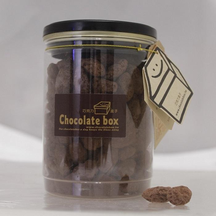 【巧克力盒子可可工坊】杏仁果巧克力-300G/罐裝 X美味茶點X健康好吃X小孩最愛X巧克力禮盒