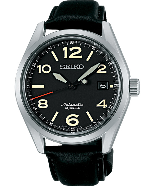 Seiko 精工五號 6R15-02R0J(SARG011J)紳士簡約機械腕錶/黑面40mm
