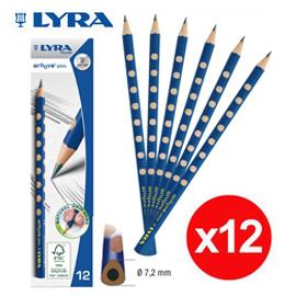 熱賣中【LYRA】 GROOVE 三角洞洞鉛筆(細) 12入/盒