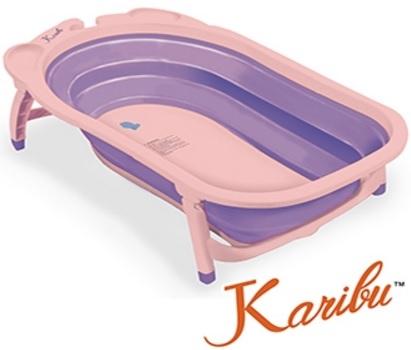 【淘氣寶寶】Karibu Tubby 摺疊式澡盆【薰衣紫】【保證公司貨●品質有保證●非水貨】