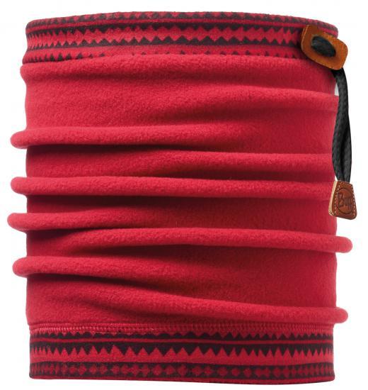 Buff 健行/滑雪/旅遊 頭巾/頸圍/刷毛圍巾/脖圍 抽繩POLAR保暖領巾 108986 暗紅色帶