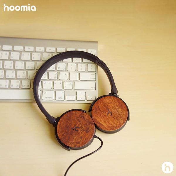 hoomia 好米亞| U3Wood 經典旋轉折疊耳罩式耳機-原木紅花梨(黑)