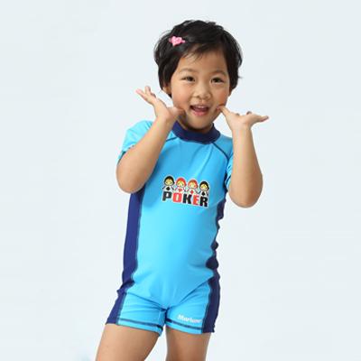 【≡MARIUM≡ 】兒童連身短袖水母衣(MAR-2824)