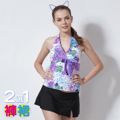 【≡MARIUM≡】大女兩件式─褲/裙2選1(MAR-2317W)