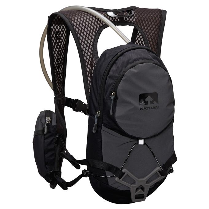 NATHAN - VaporAir輕量超馬水袋背包(2L)灰 NA4532NG 登山包 送套頭式汗樂導汗帶顏色任選乙條