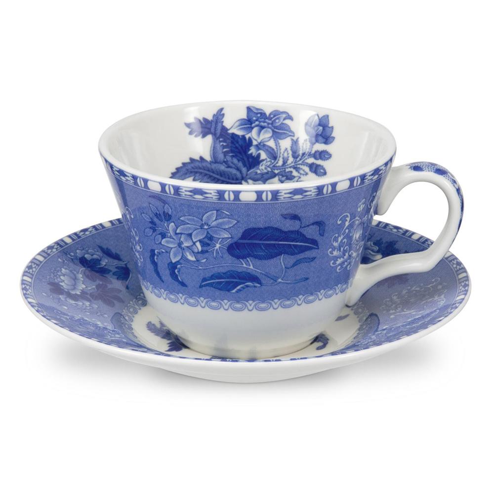 藍廳220ML花茶/咖啡杯盤組-卡米拉