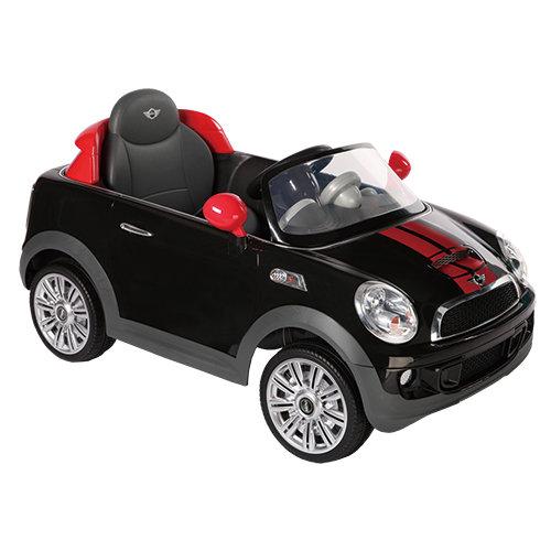【淘氣寶寶】2016年 兒童電動車Mini CooperS 遙控電動車 黑色【型號W456EQ】【贈 動物家族拉拉樂積木】