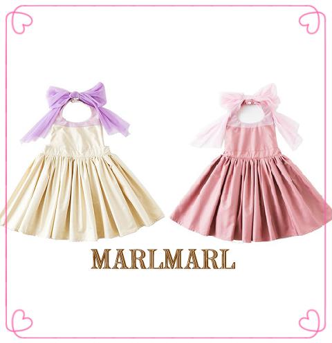 日本【MARLMARL】bouquet兒童圍裙圍兜(100~110cm)