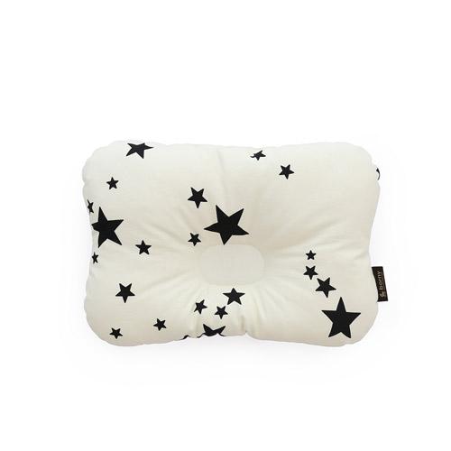 韓國【 Borny 】 3D透氣蜂巢塑型嬰兒枕(0~6個月適用) (白星星)