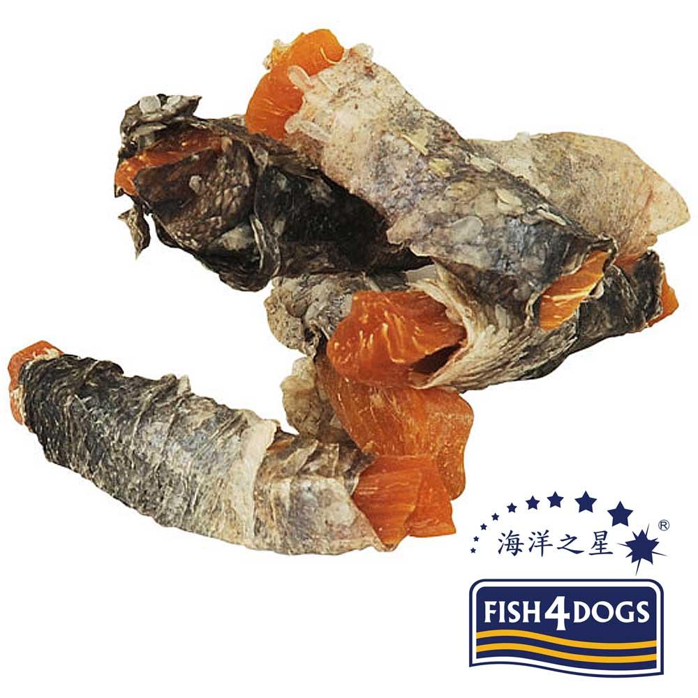 【海洋之星FISH4DOGS】營養潔齒點心-魚皮地瓜100g