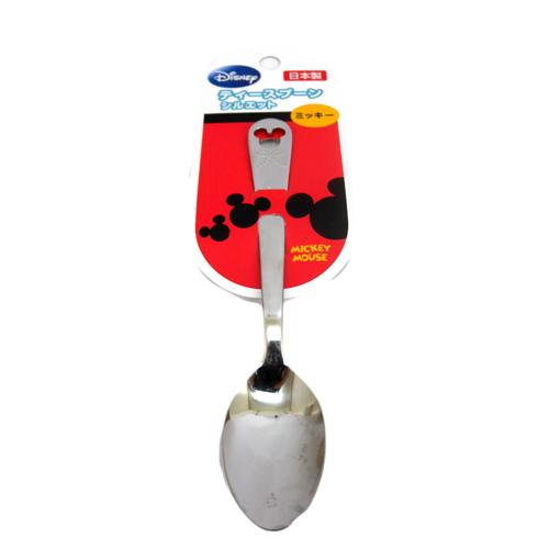 【真愛日本】15090400011 造型不鏽鋼湯匙小-MK頭 迪士尼 米老鼠米奇 米妮 小湯匙 甜點匙 食器 餐具