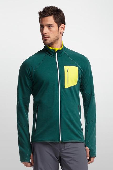 《台南悠活運動家》 ICEBREAKER 紐西蘭 JN200 男RealFLEECE輕量口袋刷毛外套 101455