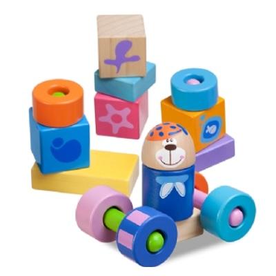【安琪兒】義大利【Chicco】木製玩具3D益智積木組-23pcs(2y+)