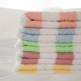 【LIFE來福牌-HJ0554】100%純棉緞彩條毛巾 1入
