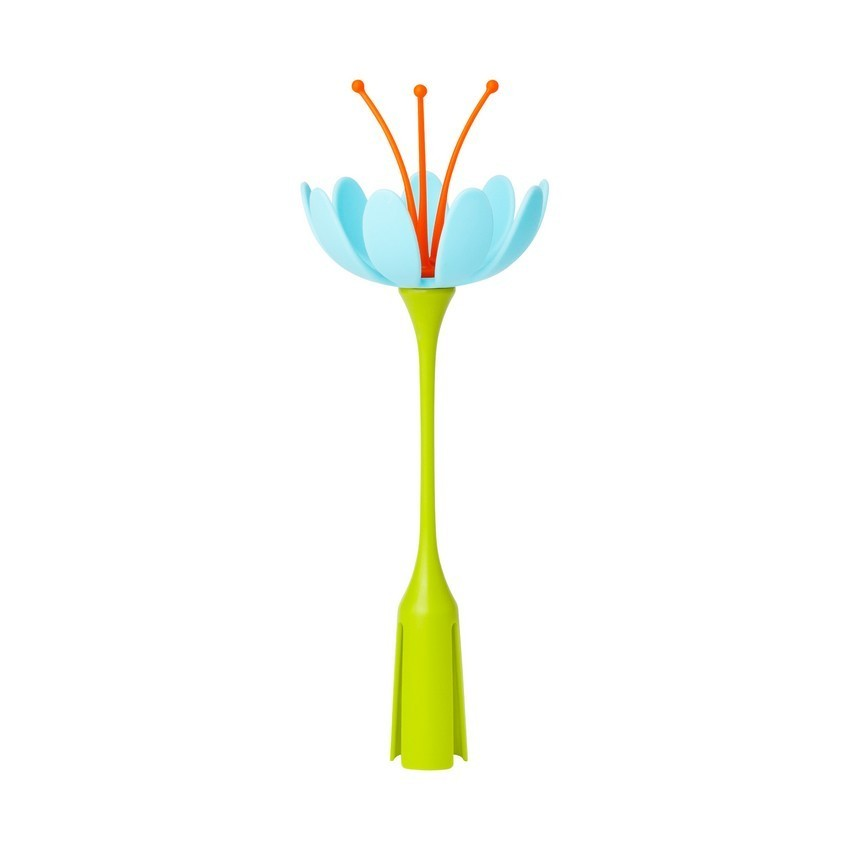 美國 boon 美國 boon 晾乾架草皮配件-小花朵奶嘴晾乾架 藍色花朵 *夏日微風*
