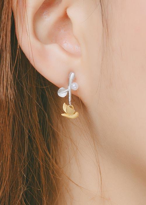 韓國飾品,動物造型耳環,鴿子造型耳環,夾式耳環