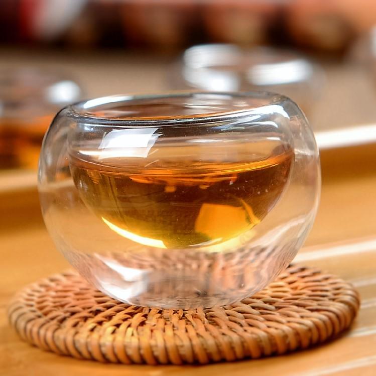 【自在坊】雙層玻璃杯 圓形款 (50ml) 茶具 茶杯賞茶杯 隔熱品茗茶杯