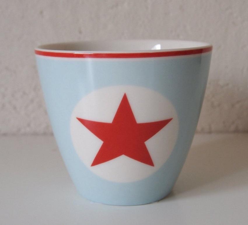 【預購】GreenGate 拿鐵杯  美式風格~藍底配紅五角星