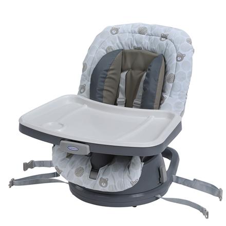 【悅兒樂婦幼用品?】Graco 成長型旋轉餐椅 Swivi Seat? 3-in-1 Booster-點點熊