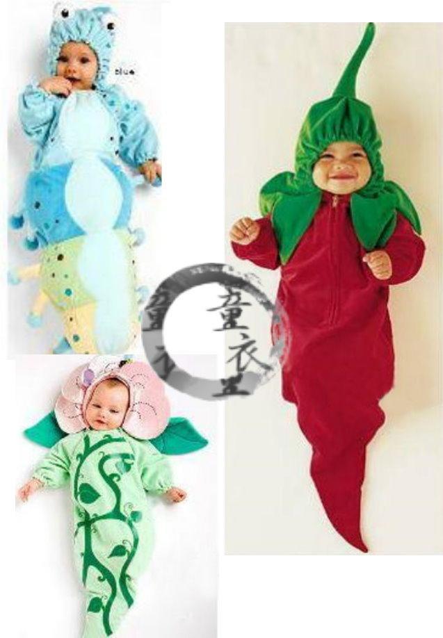 童衣圓【AC009】AC9造型服 花朵服 辣椒裝 藍色毛毛蟲 睡袋 聖誕節 萬聖節 藝術照必備