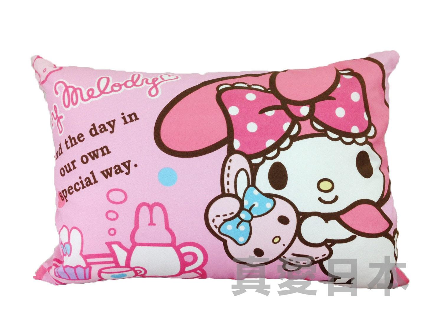 【真愛日本】16050900003 可拆洗童枕-下午茶 三麗鷗家族 Melody 美樂蒂 枕頭 靠枕 居家