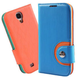 【BASEUS 彩虹】三星 SAMSUNG Galaxy S4 i9500 倍思 撞色側掀皮套/智能手機套/便攜錢包/側翻保護套/側開反扣~清倉特賣
