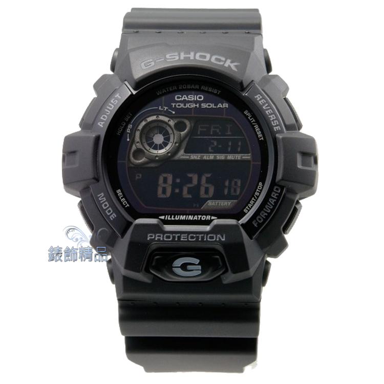 【錶飾精品】現貨CASIO卡西歐G-SHOCK多層次液晶數位錶面消光黑GR-8900A-1 太陽能電力 全新原廠正品 生日 情人節 禮物 禮品