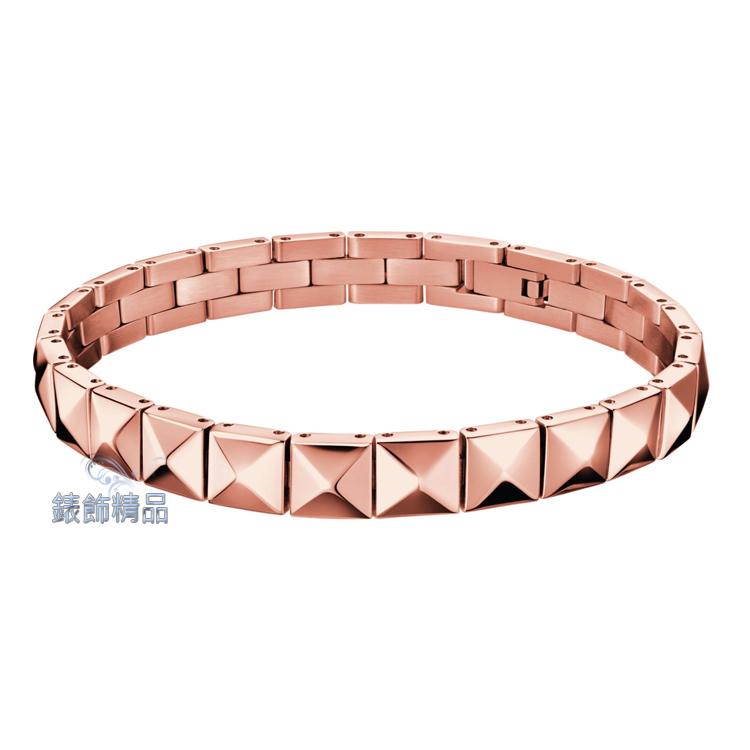 【錶飾精品】Calvin Klein CK飾品 ck手環 edge邊緣系列 316L 玫瑰金 KJ3CPB100100 全新原廠正品