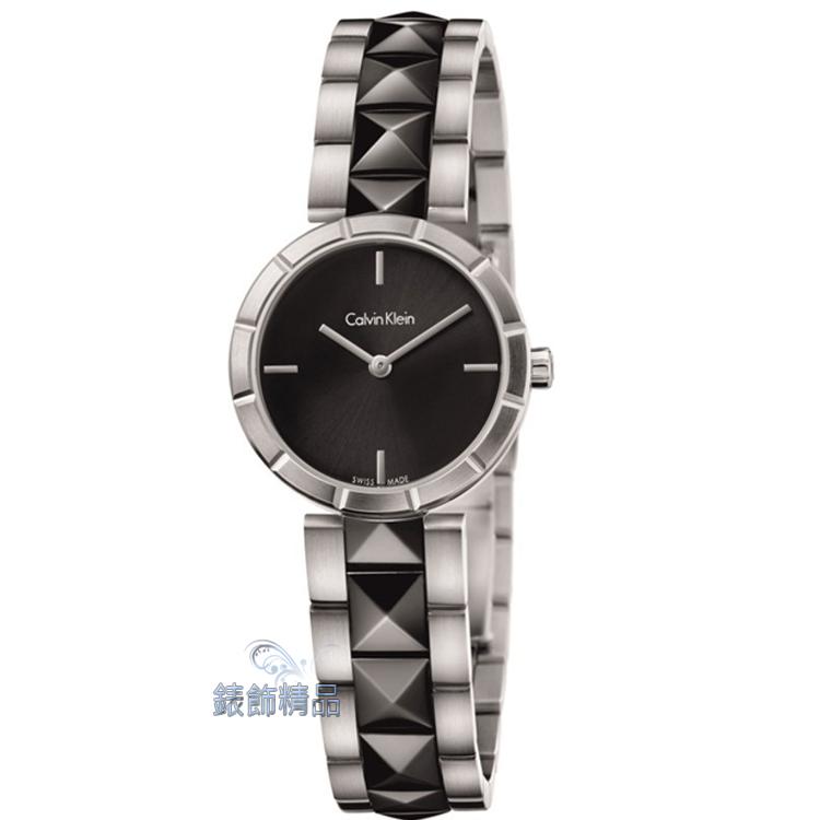 【錶飾精品】CK手錶 Calvin Klein edge邊緣系列 女表 K5T33C41 黑 全新原廠正品 情人生日禮物