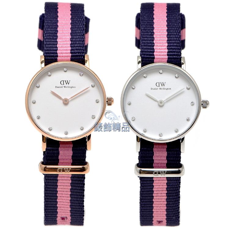 【錶飾精品】現貨DW手錶 瑞典北歐休閒 尼龍 DW00100065金 0926DW銀 Winchester 26mm