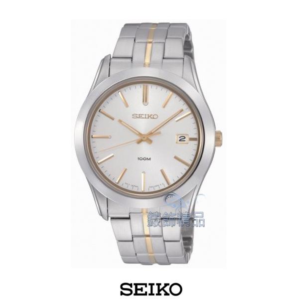 【錶飾精品】SEIKO手錶 精工錶 白面 日期 金時標 防水 藍寶石 鋼帶男表SGEE45全新原廠正品SGEE45P1